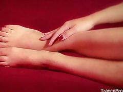 Hypnotic flicker and powerful trance, enjoy misty's foot hypnosis
