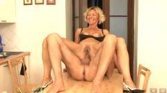 Blond anal mature