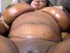 Bbw black big tits busty lingerie