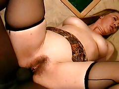 Young black poles in old ladies buttholes - scene 1