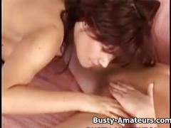 Busty paris and christine on hot lesbian sex
