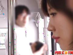 Office babe nanako mori playing dick in the subway