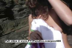Isabella stunning brunette teen babe masturbating...