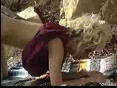 Blonde busty queen fucks on rocks - jp spl