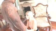 Amateur babe banged by a big black cock