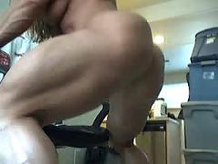 My friend muscle on webcam....