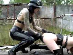 Pony girl gets trained by fiance