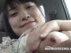 Japanese schoolgirl emi honada blowing a cock