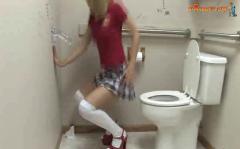 Slutty teen finds a gloryhole dildo