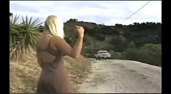 Dina jewels public roadside gangbang
