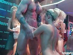 Blowing cocks in a club