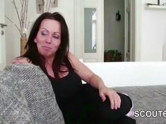 German hot stepmom milf seduce him to fuck and facial