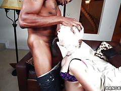 Hot milf jenna ivory rides the black