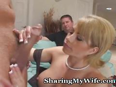 Housewife gets new cock deep inside her