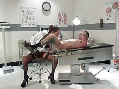 shemale stockings, shemale blowjob, tranny milf, brunette shemale, shemale domination, tranny big tits, handjob, doctors office, ts seduction, kink, tristan mathews, jessica fox