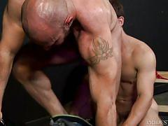 Hot gay fucks a stud's hairy tight asshole