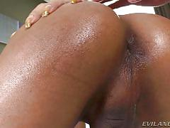 Sexy blonde shemale getting ass fucked hard