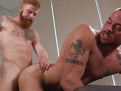 Horny gay dudes enjoying a hardcore anal sex