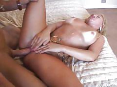Blonde babe enjoying threesome hardcore @ monster cock she-males #04