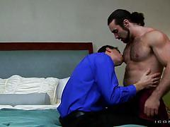 Sexy bearded man making out with lover @ sugar daddies 3