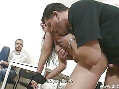 Brunette gf tricked by her lover