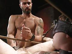 gay bdsm, gay handjob, gay blowjob, gay anal fingering, tied gay, bearded gay, blindfolded, muscled man, device bondage, bound gods, kink men, christian wilde, doug acre, adam ramzi