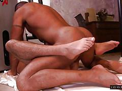 Hairy guy and twink having gay anal @ his daughter's boyfriend 3