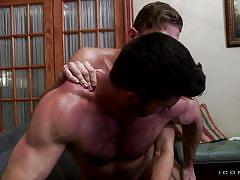 gay anal, gay kissing, hairy gay, muscled gays, bearded guy, cock jerking, fucked from the back, icon male, billy santoro, alexander gustavo