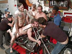 gay bdsm, gay anal, gay gangbang, bearded gay, rope bondage, tattooed guy, humiliated in public, bike, bound in public, kink men, dylan strokes, mike gaite