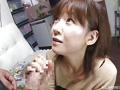japanese handjob, japanese mature, japanese blowjob, natural tits, undressing, tits licking, brunette asian, japanese matures, all japanese pass, ai komori