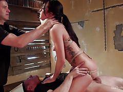Brunette babe taking a hardcore bdsm treatment