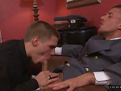 Two horny gays suck each other @ prisoner of war 2