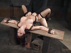 threesome, high heels, squirt, stockings, big boobs, brunette milf, big black cock, device bondage, bdsm interracial, real time bondage, syren de mer, matt williams, jack hammerx