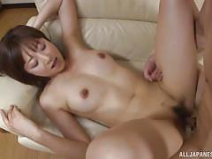 Japanese lady komori having a great fuck on couch
