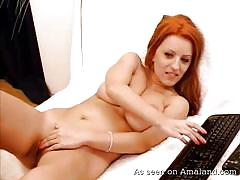 big tits, redhead, home made, masturbating, moaning, webcam sex, amateur babe, girlfriend orgasms, the gf network