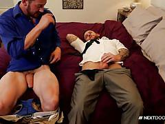 Two dudes are making a cock sucking love