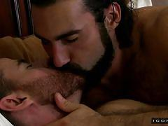 twink, hairy gay, muscled gays, bearded gay, kissing, undressing, seduction, pick up, icon male, jaxton wheeler, brendan patrick