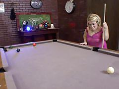 milf, blonde, handjob, midget, blowjob, tattooed, undressing, short haired, snooker table, bang a midget, seth dickens, stella marie