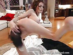 Tight bodied brunette girlfriend in a solo masturbating