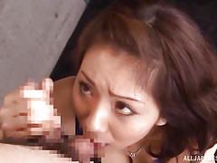 milf, handjob, asian, blowjob, brunette, censored, ball sucking, big natural tits, japanese matures, all japanese pass, yuma asami