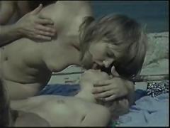 beach, group sex, vintage