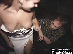 Sucking cock in a porn theater