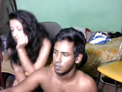 Newly married south indian couple with ultra hot babe webcam show (2)