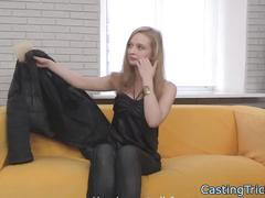 Casting newbie banged on camera