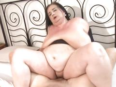 Mature bbw mother fucks young lucky son
