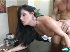 Brunette india summer gets her ass fucked hard