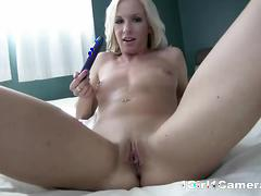 Adorable devin rae naughty toying with her dildo