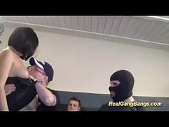 Preggo teens first gangbang orgy