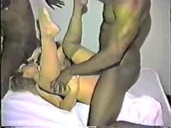 Dirty talking slut fucked hard by black cock