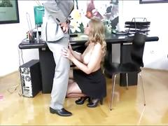 Fake boss fucking hot blonde in the office